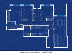 A blueprint for an apartment projects to try pinterest house blueprint vector by gines valera marin via shutterstock malvernweather Images