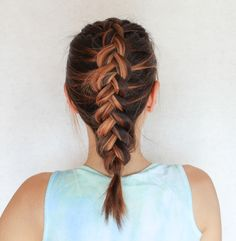 How to Dutch braid with clear, easy-to follow, step-by-step instructions.