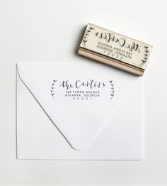 Custom Olive Branch Address Stamp | Give your stamp of approval, and of address, to each and every... | Rubber Stamps