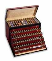 Venlo Pen Trunk Case 100 Pens Triple Burlwood Wood Display New pc-100-tb