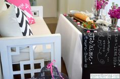How to make a chalkboard runner spelling love in many languages to my table. Chalkboard Contact Paper, Make A Chalkboard, Chalkboard Table, Wedding Rehearsal, Wedding Fun, Rustic Wedding, Wedding Ideas, Diy House Projects, Diy Projects To Try