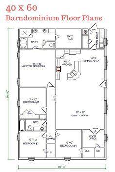 I really LOVE this floor plan. Texas Barndominiums, Texas Metal Homes, Texas Steel Homes, Texas Barn Homes, Barndominium Floor Plans More by lizzie