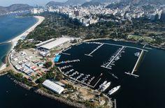 Vista aérea da Marina da Glória, que receberá os eventos de vela durante a Rio 2016