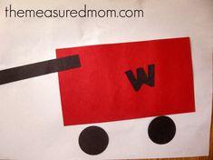 wagon puzzle 11 Crafts for Letter W Letter W Crafts, Preschool Letter Crafts, Abc Crafts, Alphabet Crafts, Alphabet For Kids, Classroom Crafts, Alphabet Letters, Kids Crafts, Toddler Art