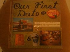 """Our """"first date"""" page"""