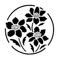 flower stencils - Google Search