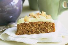 This carrot cake is infused with the flavours of coconut to take it to another level of decadence.