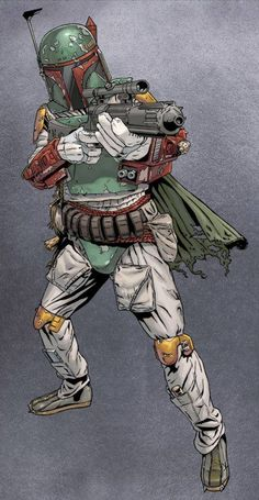 Boba Fett by Joe Corroney, with colour by Hi-Fi Colour Design