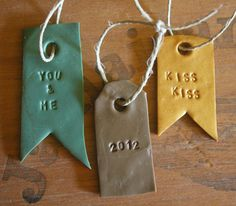 I like this idea for seating arrangement tags for a wedding.