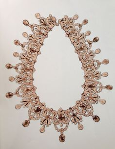 "fawnvelveteen:  ""Diamond and Sapphire necklace. Owned by Tsarina Alexandra, the wife of Tsar Nicolas II."""