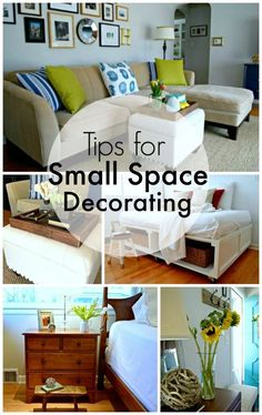 Helpful tips for decorating your small space. | http://chatfieldcourt.com