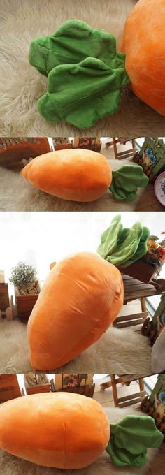 Simulated Carrot Throw Pillow Back Cushion Naps Pillow Noon Break Plush Stuffed Toy Doll Gift