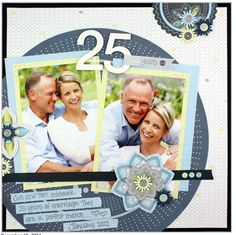 beautiful scrapbooking page with shine