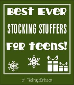Best Ever Stocking Stuffers for Teens! ~ from TheFrugalGirls.com ~ Santa's helpers will love this HUGE list of creative ideas both teen boys and teen girls will LOVE!