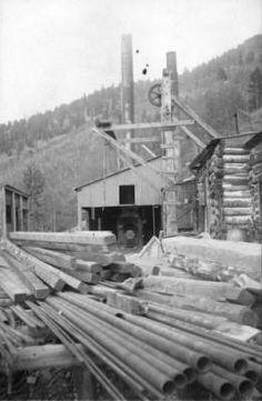 St. Lewis Mine in Bonanza Colorado. Photo taken in 1890
