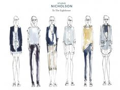 Fashion Sketchbook - fashion illustrations; fashion sketches; line up; fashion portfolio // Laura Smallwood
