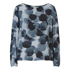 Betty & Co. Printed Top, Dark Blue