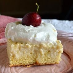 Coconut Rum Tres Leches Cake. I think a yummy variation would be using Frangelico instead of coconut rum.