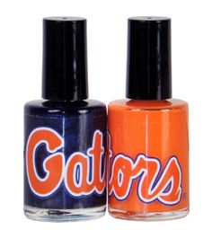 NCAA Florida Gators Two Pack Team Colored Nail Polish