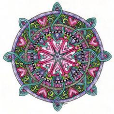 Web of Love Mandala by Artwyrd.deviantart.com on @deviantART