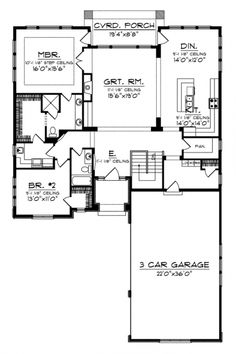 Best Of Small Ranch House Plans 2 Bedroom. Ranch Style House Plan with 2 Bed 1 Bath In 2020 Retirement House Plans, Garage House Plans, Ranch House Plans, New House Plans, Small House Plans, House Floor Plans, Retirement Planning, Early Retirement, Car Garage