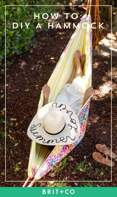 Make a hammock for your backyard + camping trips with this easy sewing DIY project.