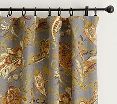 Preston Palampore Drape - suggested pattern for Kitchen & DR windows #potterybarn