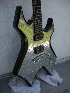 Bc Rich Diamond Plate Warlock guitar
