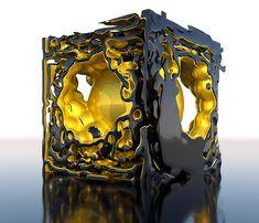 Reaction-diffusion cube