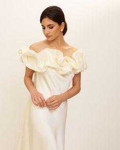 Elegant Modern Silk Wedding Dresses for 2022 Brides – Zoe Rowyn Bridal – Bridal Musings 25