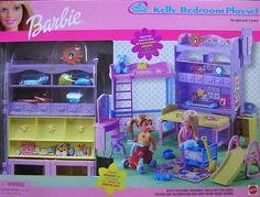 2000 KELLY BEDROOM PLAYSET BARBIE DOLL ALL AROUND HOME NEW NRFB