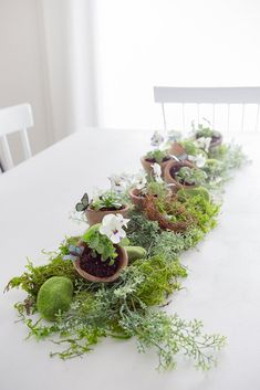 Set a lovely DIY natural spring table runner with this easy DIY idea from Crafberrybush