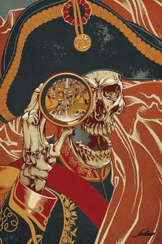 "pirate by Sililoho? Javier Medellin Puyou ""Tribute to Guadalupe Posadas"" Pirate Art, Pirate Life, Pirate Skull, Pirate Skeleton, Pirate Halloween, Comic Art, Totenkopf Tattoos, Monkey Island, Pirate Wench"