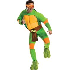 a2fb8fc150f73 Rubies Costumes Teenage Mutant Ninja Turtles Deluxe Michelangelo Standard  Cheap Discount Clothing