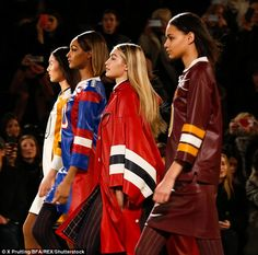Hilfiger, 65,  revealed his team were concerned she was too big to model normal clothes on...