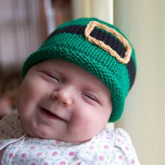 Leprechaun baby hat St Patrick's Day gift by LittleVoiceKnitting, $22.00--This is adorable!!!!