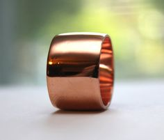 Extra Wide Copper Ring Size 9 1/4 by JVJEWELERS on Etsy, $45.00