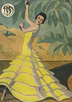 Print of Blanco y Negro 1934 Spain cc dresses flamenco Spanish Dancer, Spanish Music, Vintage Ads, Vintage Posters, Illustrations, Illustration Art, Cc Drawing, Spain Images, Advertising Archives