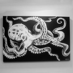 Octopus painting Octopus art Octopus decor Ocean by SimplyPallets