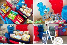 Mesa de dulces | cumpleaños | fiesta |  Elmo & Cookie | plaza sésamo | www.beKUUKI.com