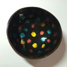 L0007 Coconuts Shell Lacquer Bowl Craft Handmade | eBay Black Clay, Coconut Shell, Coconuts, Handmade Crafts, Decorative Bowls, Shells, Ebay, Conch Shells, Seashells