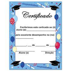 Pedagógiccos: Certificados e diplomas para formatura infantil  -...