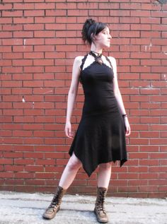 Pixie dress. Gothic. Elven dress. Earthy dress Goddess, festival, psy, dolly dress, steampunk. by AbstractikaCrafts on Etsy