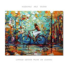 Abstract Art Giclee Print on canvas Interior Decor P Nizamas White Skirt ready to hang