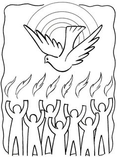 Tongues Of Fire Coloring Pages Holy Spirit Pentecost Coloring with regard to Holy Spirit Coloring Pages intended to Invigorate to color page Catholic Crafts, Church Crafts, Holy Spirit Come, Holy Spirit Images, Day Of Pentecost, Sunday School Coloring Pages, Bible Coloring Pages, Coloring Sheets, Saint Esprit