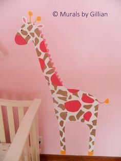 Carteru0027s  Jungle Jill  Baby Girl Nursery Mural. Pink Girly Giraffe [Murals by Gillian] & Jungle Jill Wall Decals | Nursery Accessories Wall Art u0026 Frames ...