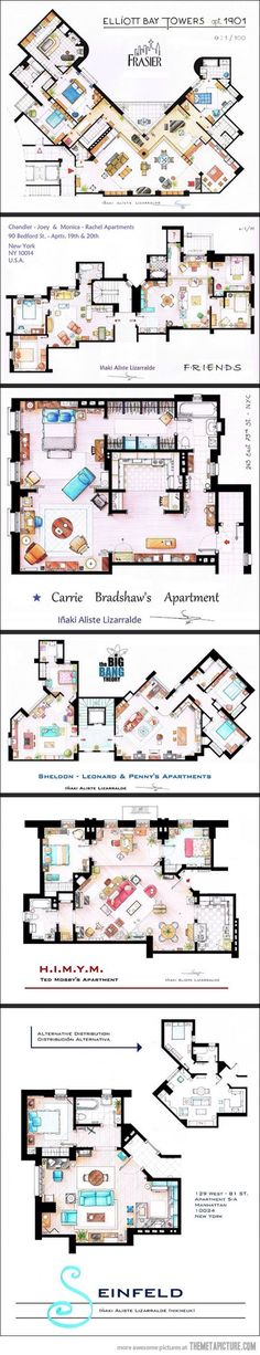TV Show Floorplans