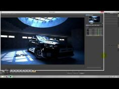Speed Art Cinema 4D Vray Mitsubishi Evolution x black - YouTube