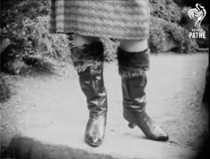 Russian boots in Pathe newsreel, 1930 Something Old, Knee Boots, Fashion, Moda, Fashion Styles, Knee Boot, Fashion Illustrations, Knee High Boots, Over Knee Boots
