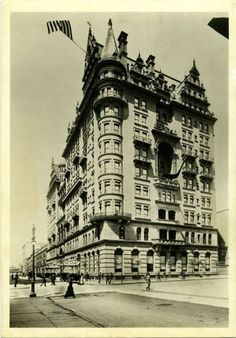 The Waldorf Astoria - The original Waldorf hotel was where the Empire State Building stands today. John Jacob Astor's home next door became the Astoria hotel in 1897, when the two properties joined forces.